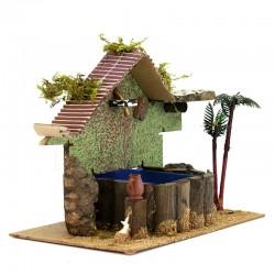 Fountain with Pump for Nativity - B 26x20x16 cm