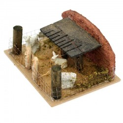 Fence with Sheep for Nativity Scene 14x6x11 cm