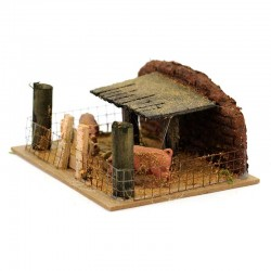 Fence with Pigs for Nativity Scene 14x6x11 cm