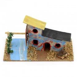 Cardboard House for Nativity Scene F