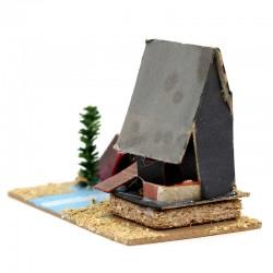 Cardboard House for Nativity Scene H