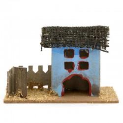 Casetta per presepe in legno e cartoncino modello-I