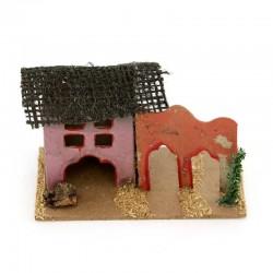 Cardboard House for Nativity Scene L
