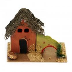 Cardboard House for Nativity Scene M