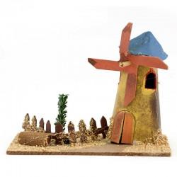 Casetta per presepe in legno e cartoncino modello-N