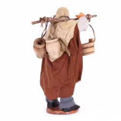 Dressed terracotta carrier of tubs 12 cm