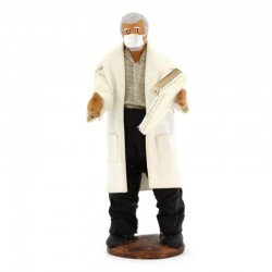 Doctor with mask with dressed terracotta 12 cm