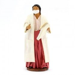 Dressed Doctor with mask in terracotta 12 cm