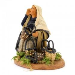 Terracotta and Clothing Basket Seller 10 cm