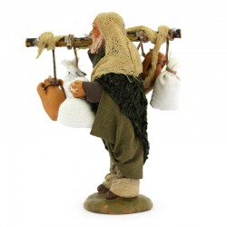 Wayfarer shepherd with amphorae in terracotta with dress 10 cm