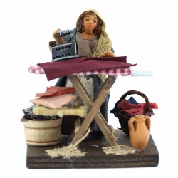 Woman ironing in terracotta with dress 10 cm