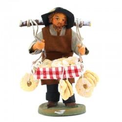 Taralli seller in terracotta with dress 10 cm