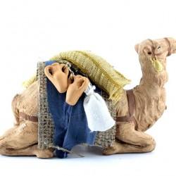 Terracotta and Clothing Sitting Saddled Camel 10 cm