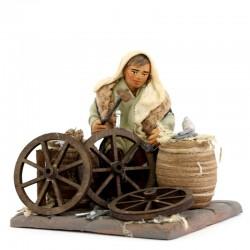 Aggiusta ruote in terracotta vestita 10 cm