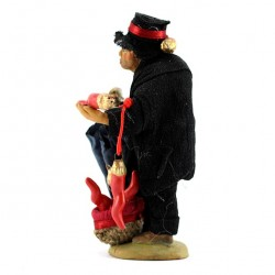 Terracotta and Clothing Hunchback 10 cm