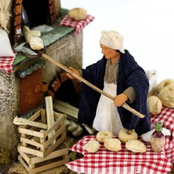 Terracotta and Clothing Moving Baker with Oven 12 cm