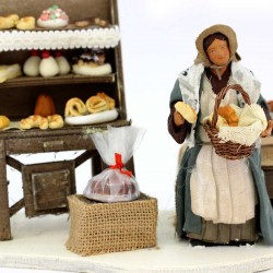 Terracotta and Clothing Moving Pastry Chef Woman 12 cm