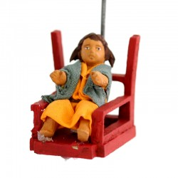 Terracotta and Clothing Moving Merry-go-round 12 cm