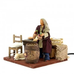 Moving drunkard in tavern in terracotta with clothes 12 cm