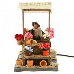 Moving flower seller with dressed terracotta 12 cm