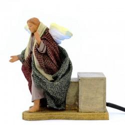 Moving Angel dressed terracotta 12 cm