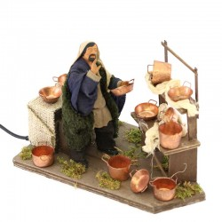 Terracotta and Clothing Pots Seller 12 cm