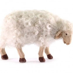 Terracotta and Wool Sheep for Shepherds 24 cm