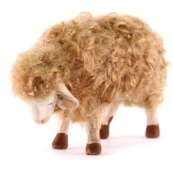 Terracotta and Wool Sheep for Shepherds 20-24 cm