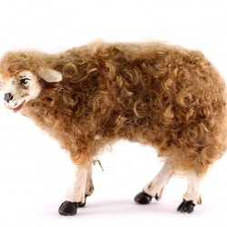 Terracotta and Wool Sheep for Shepherds 30 cm