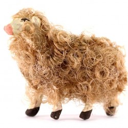 Terracotta and Wool Sheep A for Shepherds 8-10 cm