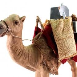 Terracotta Barded Standing Camel 24 cm