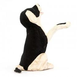 Terracotta Black and White Dog 12 cm
