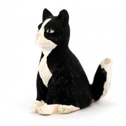 Terracotta Sitting Black Cat 12 cm