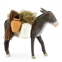 Terracotta Standing Barded Donkey 24 cm