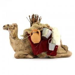 Cammello bardato seduto in terracotta 12 cm