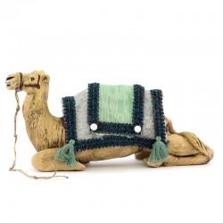 Cammello bardato seduto per magi in terracotta 12 cm
