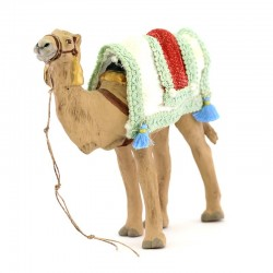 Standing harnessed camel for wise men in terracotta 12 cm