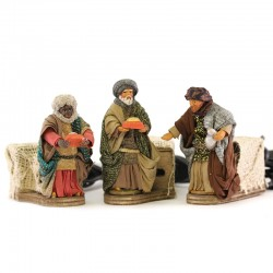 Moving Wise Men in dressed terracotta 10 cm