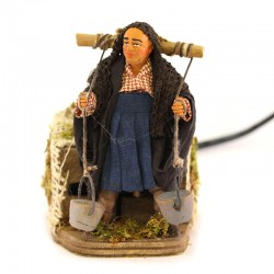 Moving water seller in dressed terracotta 10 cm
