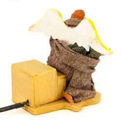 Moving angel with dressed terracotta 15 cm