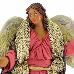 Dressed terracotta Standing Angel 24 cm