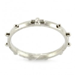Single Decade Rosary Ring metal 26 mm