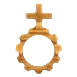 Rosario decina in legno di ulivo 2,8x4,3 cm