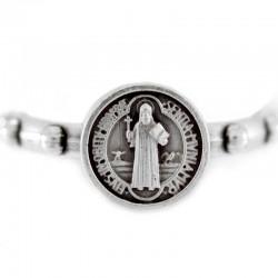 Rosario anello San Benedetto in metallo ossidato 19 mm