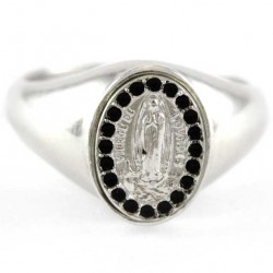 Our Lady of Lourdes Ring silver 800°°
