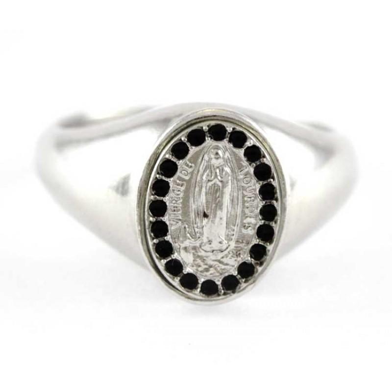 Popolare Madonna di Lourdes argento 800°° LY64