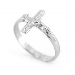 Anello con Crocifisso argento 800°°