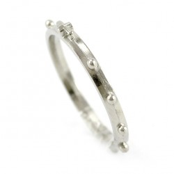 Single Decade Rosary Ring metal 14 mm