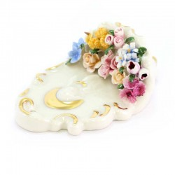 Ceramic Virgin Mary Holy Water Font 13 cm