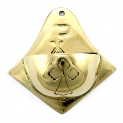 Metal Holy Water Font with X P 10 cm